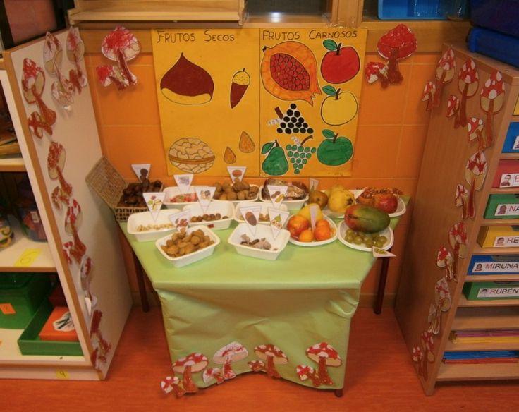 Exposición de frutos de otoño