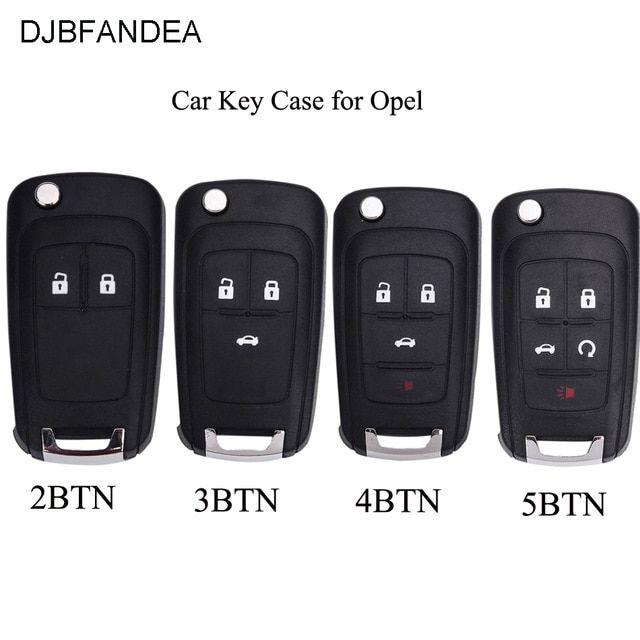 Djbfandea Folding Car Key Shell Remote Flip Key Fob Case For Opel