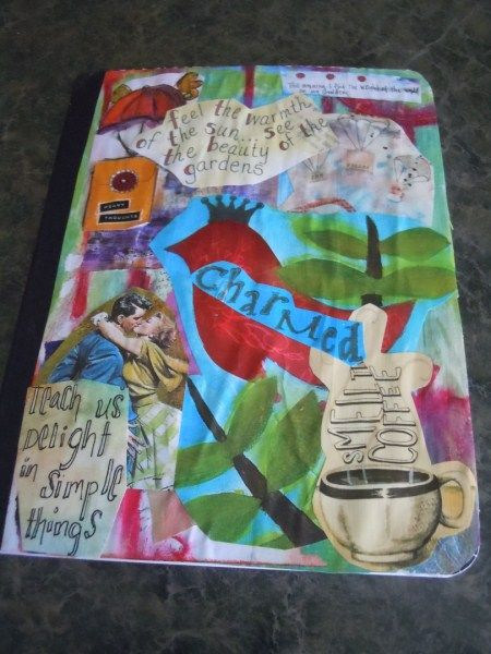 How to decorate a journal and make it your own.  I have to do this with my girls!