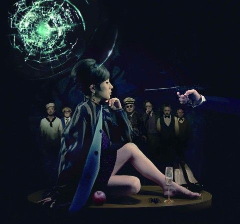 "Shiina Ringo(椎名林檎) in her collaborated single ""Koroshiya Kiki Ippatsu(殺し屋危機一髪)""  poster."