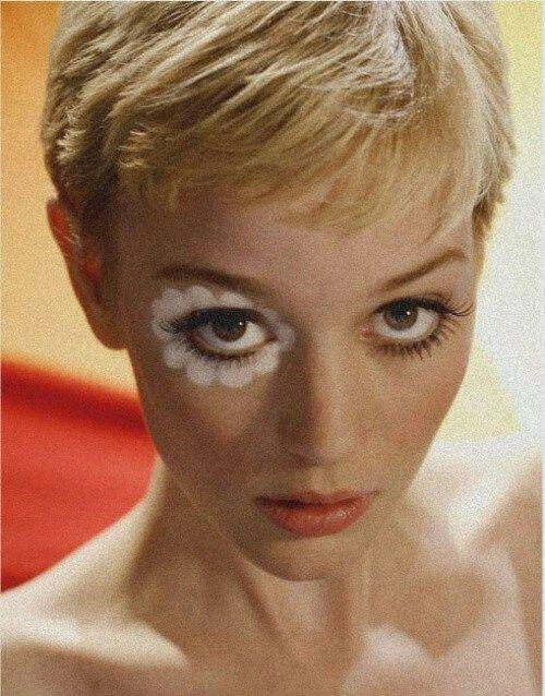 60s Makeup...love her hair too....the cute version of clockwork orange?                                                                                                                                                                                 More