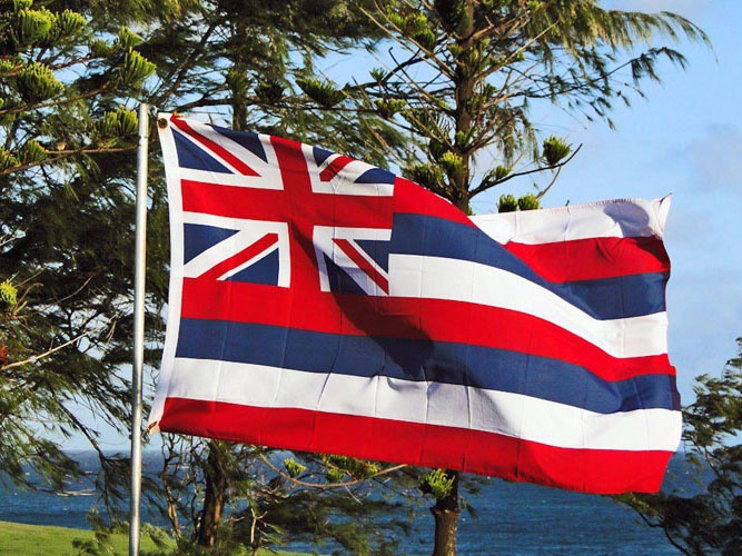 The flag of the state of Hawaii (Hawaiian: Ka Hae Hawaiʻi).