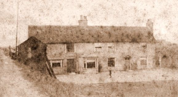 An early picture of the Lobster Smack Inn (Sluice Inn)