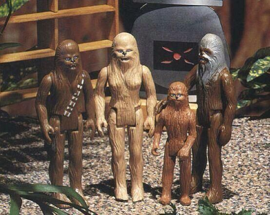 Kenner planned to release these figures based on the 1978 Star Wars holiday special. | via Rare Star Wars Pics