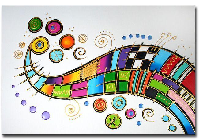 Echt een heel mooi en kleurrijk top-schilderij van kunstschilder Ines.