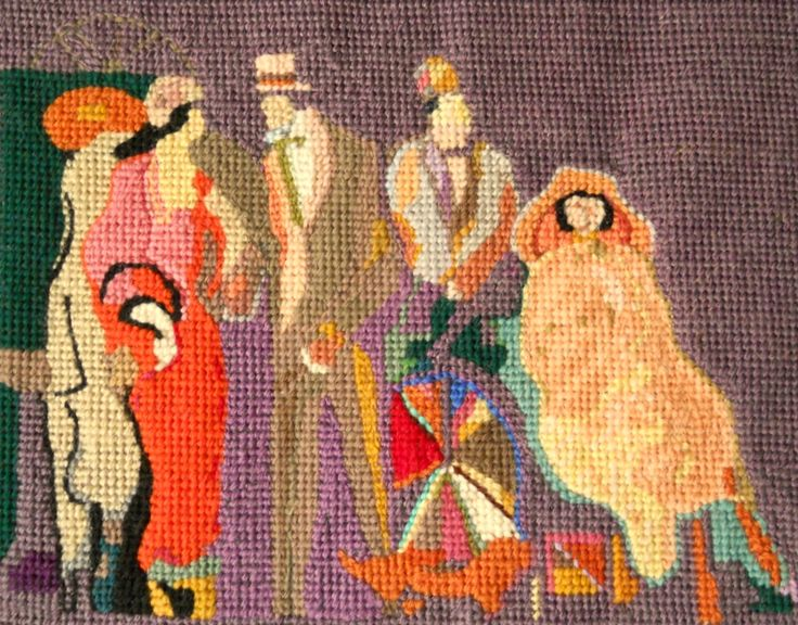 Original needlepoint art by created and stitched by Paul Tartanella LTA284