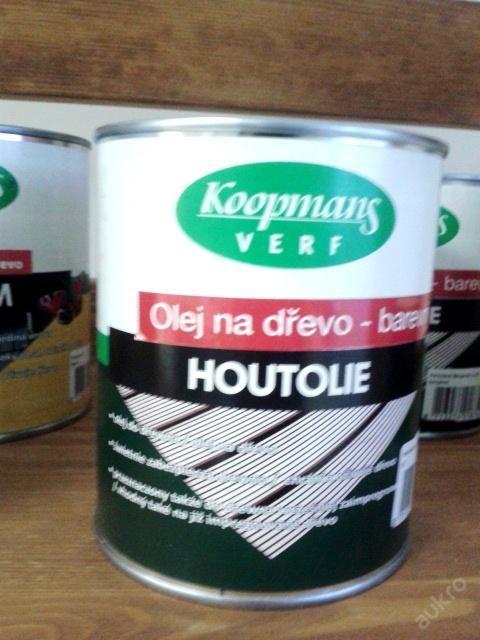 HOUTOLIE napouštěcí olej lněný teak UV 0,75l Vyzkoušejte holandskou kvalitu a ochraňte své dřevo na dlouhá léta