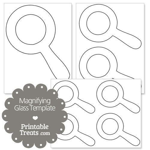 printable magnifying glass template from printabletreats com