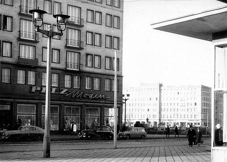 magdeburg leiterstraße  | Karl-Marx-Straße (Breiter Weg) noch mit freien Blick zur Wilhem-Pieck ...
