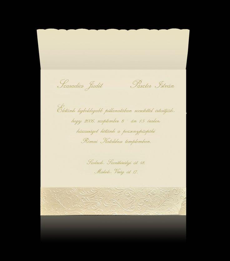 Esküvői meghívó C 5002 - Luxus esküvői meghívók - Pamas HU