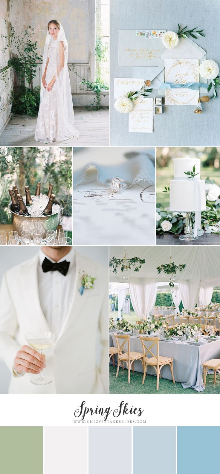 Spring Skies - Heavenly Wedding Inspiration in Soft Shades of Blue