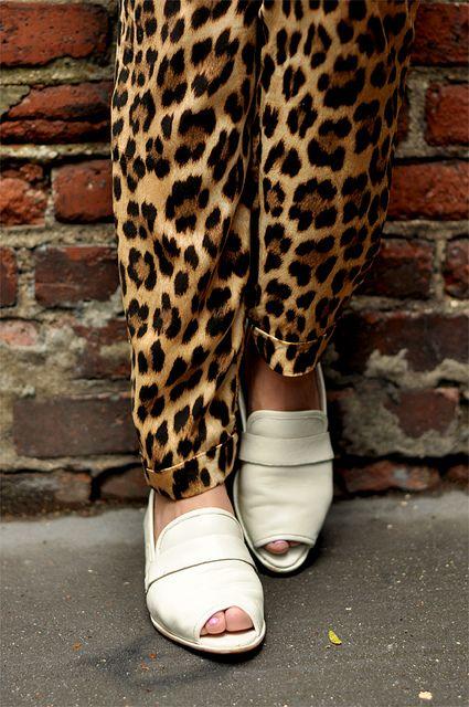 Leopard print pants!