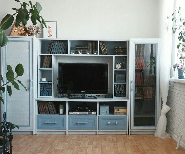 Перекраска, перекраска мебели, переделка, переделка мебели, своими руками, мебель для гостиной, новая жизнь старых вещей