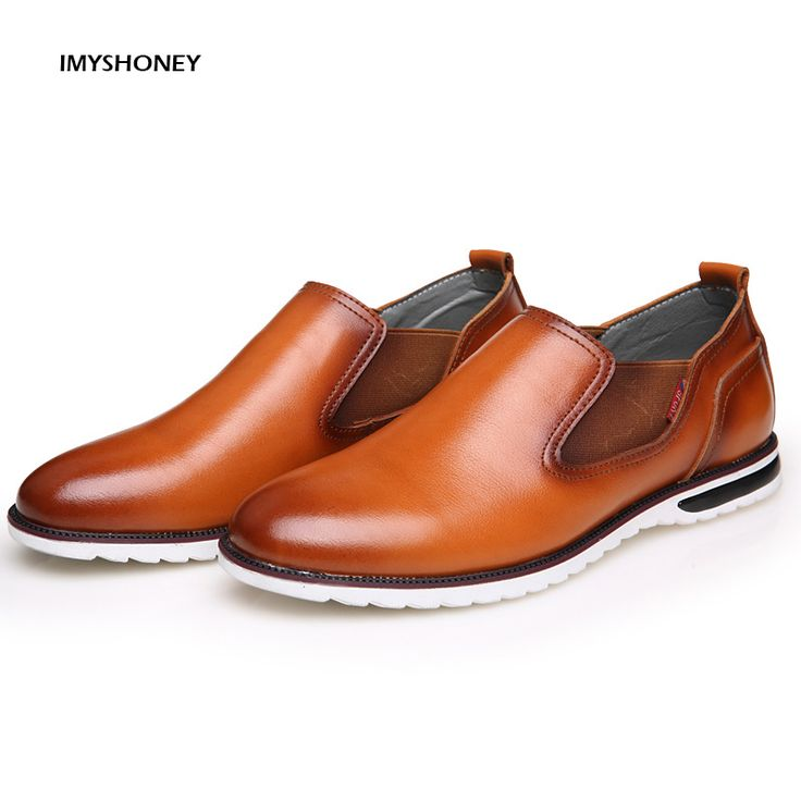 >> Click to Buy << High Quality Cow Leather Men's Shoes  slip-on  UK Fashion Male Casual Shoes Men Flats Footwear #Affiliate