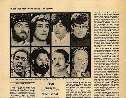 (1) Feb 18, 1970 Five of the Chicago Seven (Eight?) defendants were found guilty of intent to incite a riot at the 1968 Democratic national convention. (The convictions were later overturned.)