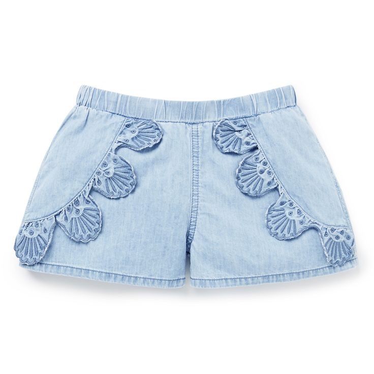 Shop now: Chambray Broderie Shorts.  #seed #seedheritage #child