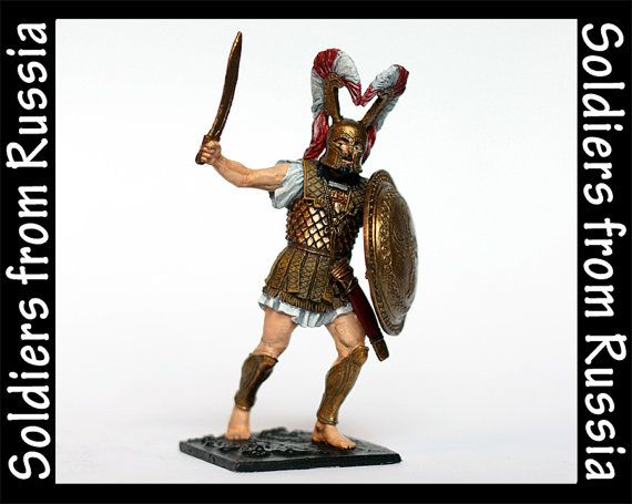 Tin Soldier Greek Hoplite 480BC Hand Painted by RussianSoldiers