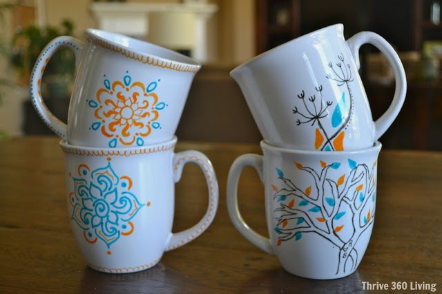diy doodle mugs do 39 s don 39 ts made with pens designed for porcelain not sharpies must do 39 s. Black Bedroom Furniture Sets. Home Design Ideas