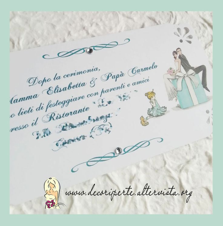 "Tiffany Wedding Invitations Partecipazioni matrimonio ""Tiffany"""