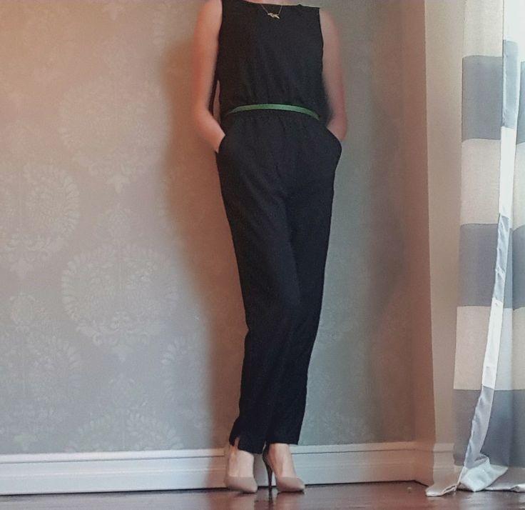 Romper paired with neutral vegan microsuede heels from Olsenhaus