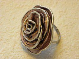 Ring (Rose) aus Nespressokapseln, coole Geschenkidee, verschiedene Farben