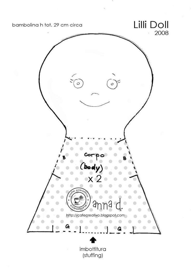 ART WITH QUIANE - Paps, Molds, EVA, Felt, seams, 3D Fofuchas: Cast Lilli doll 2 of 3