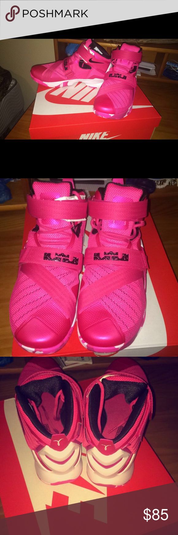 Pink LeBron Soldiers Size 11.5 Condition 9/10 Willing to trade Shoes Athletic Shoes