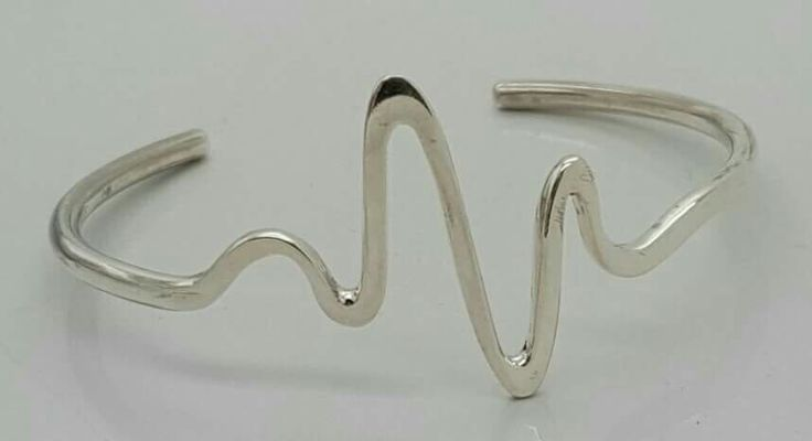 Custom heartbeat cuff bangle in sterling silver by Havilah Designer Jewellers. R695. Also available custom heartbeat necklace R865