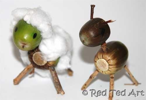 Fun Fall Activity: Acorn animals: Kids Get Crafty Acorn Animal, Art Blog, Fall Crafts, Natural Crafts, Kids Crafts, Fall Homeschool, Animal Crafts, Acorn Crafts, Autumn Crafts