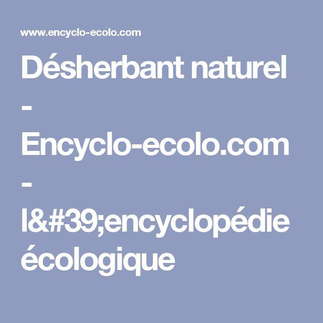 Désherbant naturel - Encyclo-ecolo.com - l'encyclopédie écologique