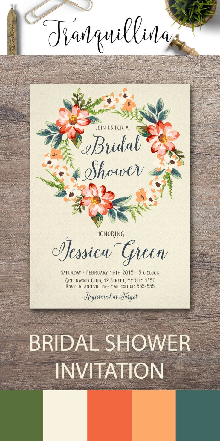 Autumn Bridal Shower Invitation Printable, Floral Bridal Shower, Boho Bridal Shower, Boho Birthday Invitation, Fall Bridal Shower Invitations, DIY Bridal Shower Party Ideas, Digital File - pinned by pin4etsy.com