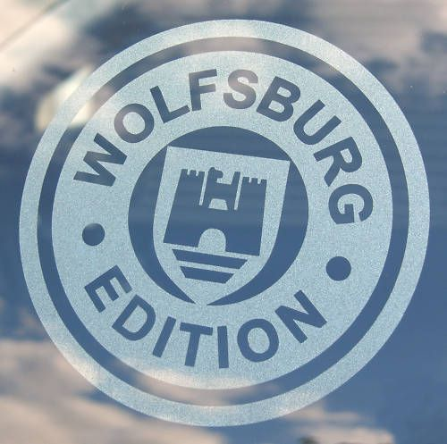 VW 'WOLFSBURG EDITION' 2 etched window stickers decals | Vehicle Parts & Accessories, Car Tuning & Styling, Body & Exterior Styling | eBay!