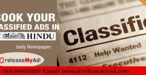 Book Hindu advertisements just in 3 steps via releaseMyAd!
