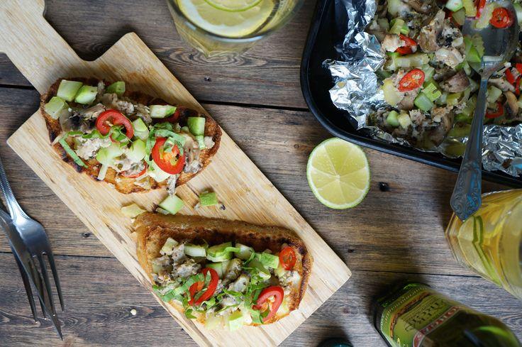 Брускетта с овощами и курицей, пошаговый фоторецепт, кулинарный блог, интернет-магазин, andychef.ru