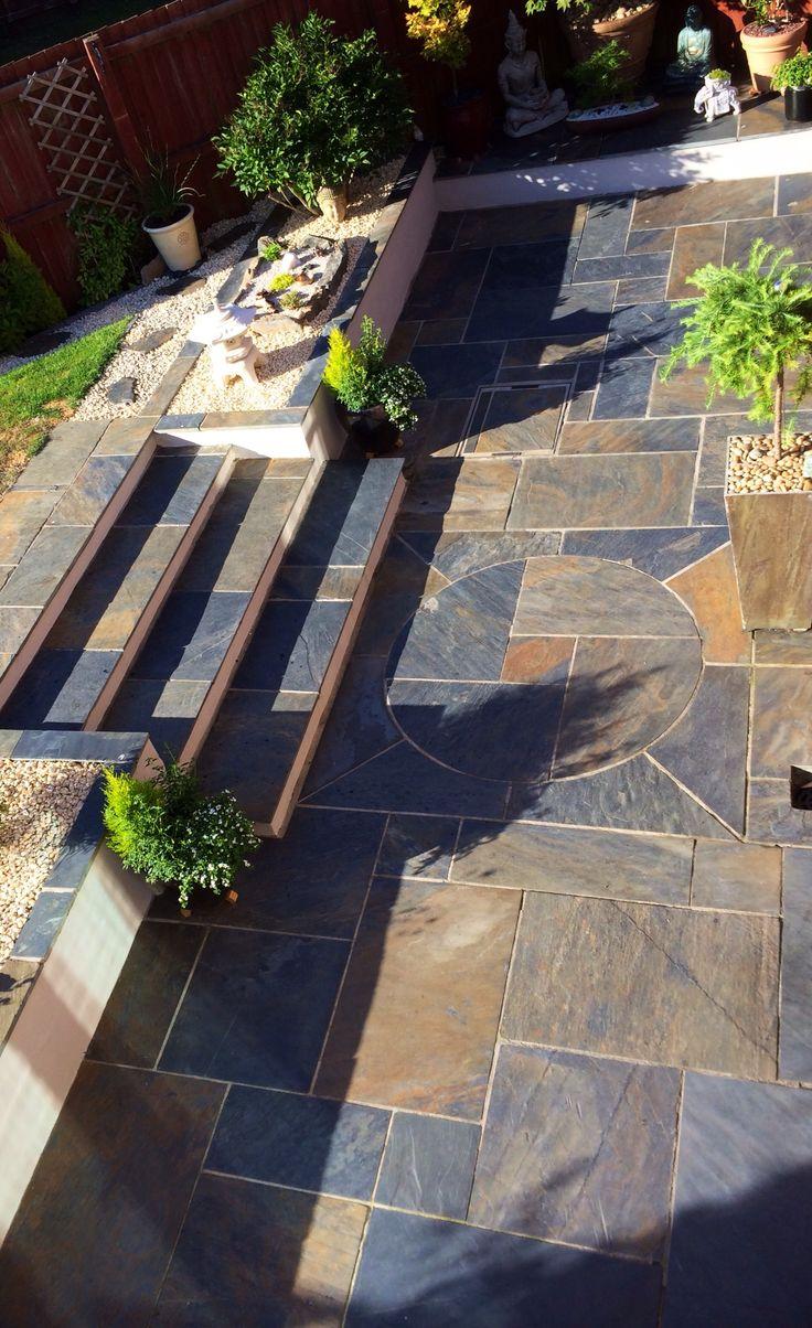 Multicolour Slate Patio Kit Natural Stone Paving in 2020