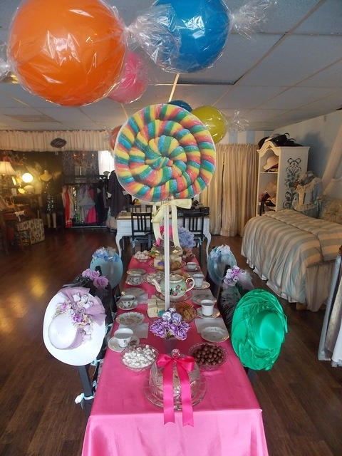 Table Set Up Balloons Like Candies Giant Lollipops