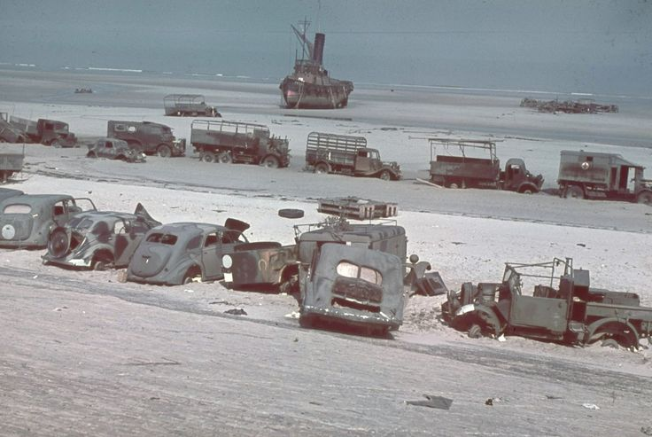 Rarely Seen Color Photographs of the Aftermath of the Battle of Dunkirk in 1940