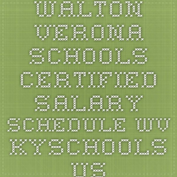 Walton-Verona Schools Certified Salary Schedule wv.kyschools.us