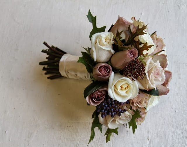 The Flower Magician: Gorgeous Autumn Coffee & Cream Wedding Bouquet