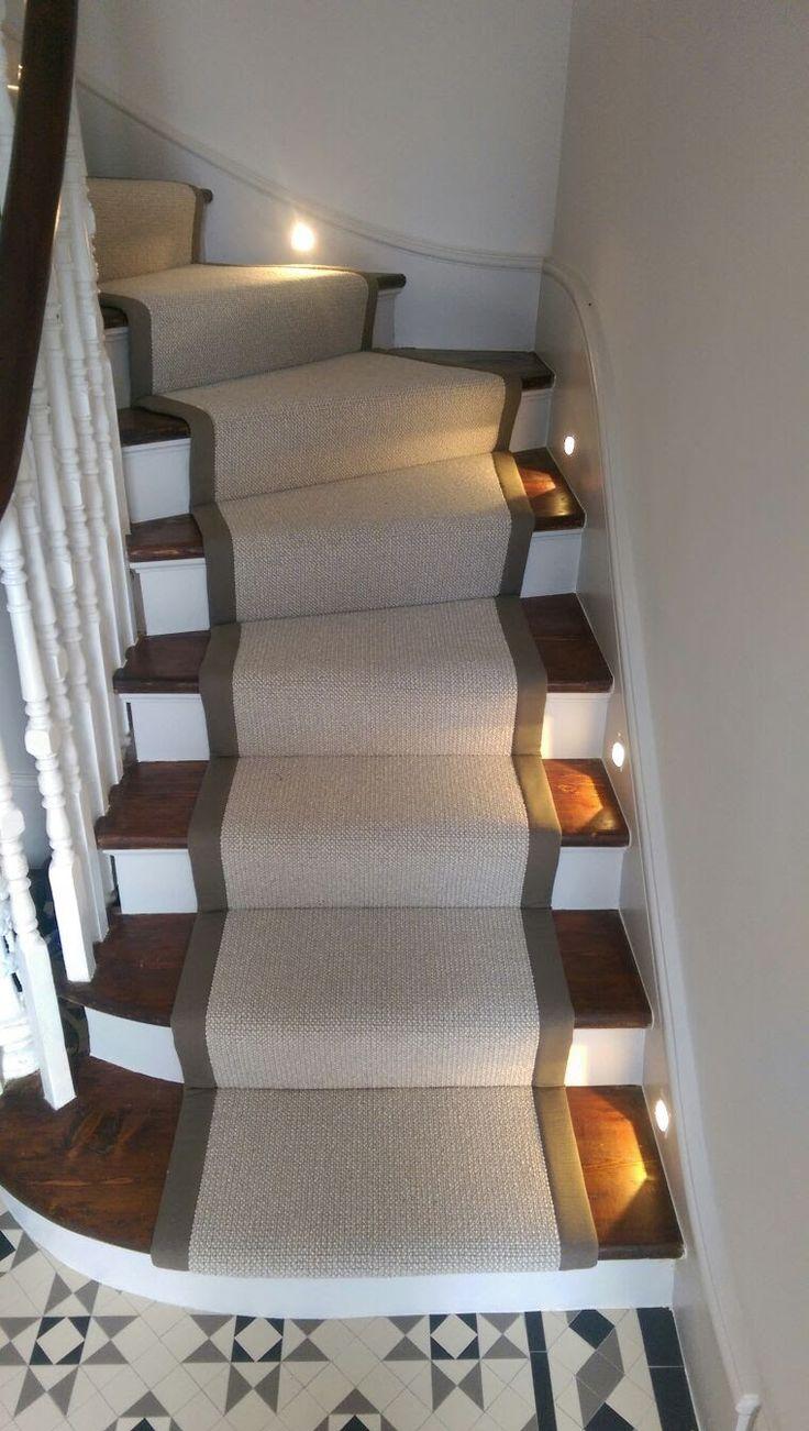 Cream Stair Runner With Grey Binding By Bu0026R Carpet Company #stairs #runner  #binding