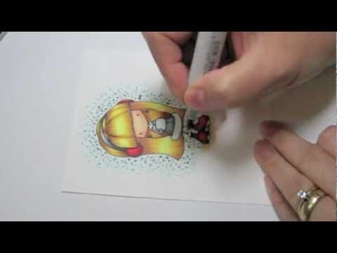Creating a Dotty Background with Copics