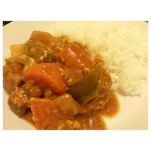 Yum!! a bit #spicy #kaldereta with #cheese for #dinner #yummy#filipino#food#cook#cooking#philippines #晩ごはん ちょっぴり#スパイス の効いた#フィリピン#料理#カルデレータ #美味しい