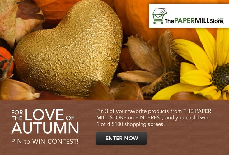 Pin to Win! The Paper Mill Store is giving away 4 - $100 Shopping Sprees!