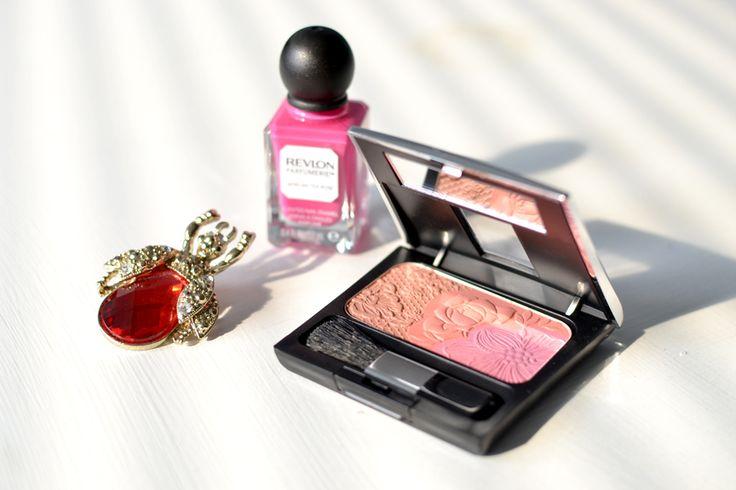 Spring is here   #spring #beauty #cosmetics #Revlon #nailpolish #MakeUpFactory #blush #HM #broach