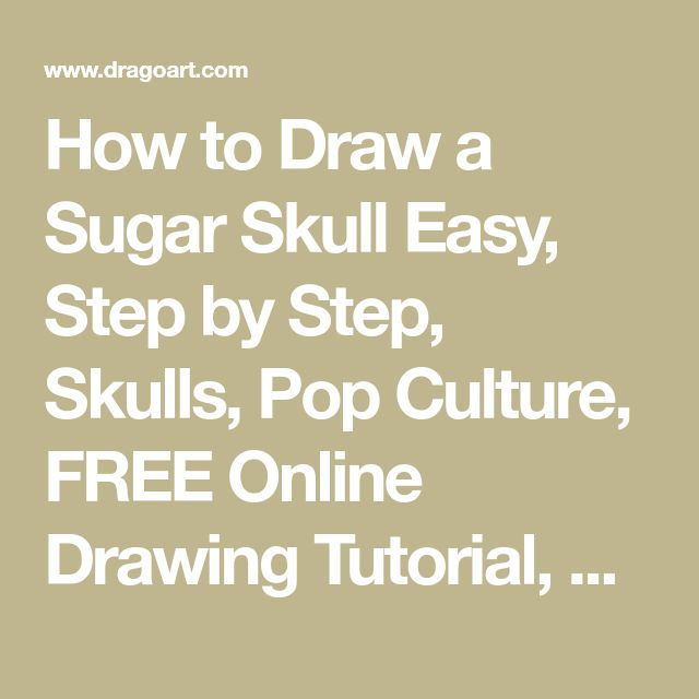 how to draw a sugar skull step by step easy