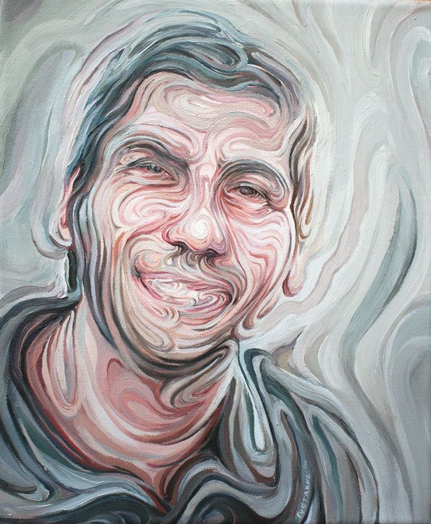 Juxtapoz Magazine - Nikos Gyftakis's Liquid Portraits