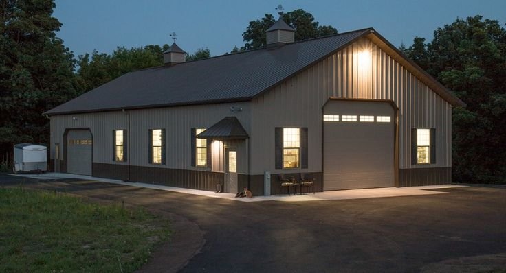 488 best hobby garages images on pinterest morton for Garage barns with living quarters