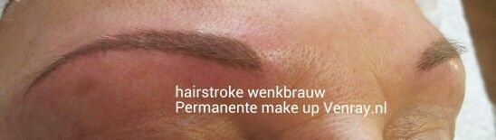 Hairstroke wenkbrauw door Nathalie Salarbux-Rozema, permanente make up Venray.nl