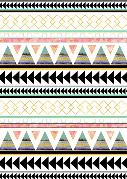 Aztec 3 Stretched Canvas by Dream_scape | Society6