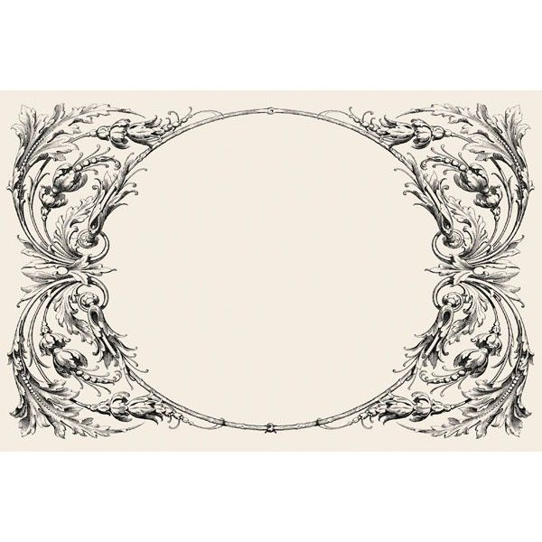 30 'Italian Scroll' Paper Placemats